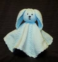 Knitting Pattern Snuggle Blanket : buddy bunny sleepy blankie pattern BABY SNUGGLE/COMFORT ...