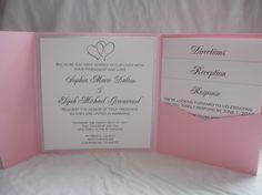 Hearts pocketfold wedding invitation SAMPLE by SomerStudios