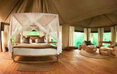 A sublime tented safari camp on the edge of a permanent lagoon in the South Luangwa National park with the Chindeni Hills providing a truly breathtaking backdrop.