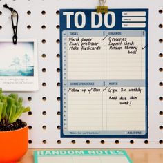 To Do Pad for Daily To-Do List by Knock Knock - knockknockstuff.com #DressYourDesk #knockknockstuff #checklists