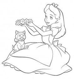 Desenhos da Alice no Pais das Maravilhas para Colorir3