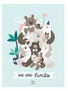 """""""We are family"""" de Michelle Carlslund"""