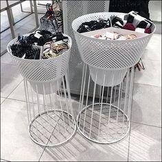 Open Wire Pedestal Perforated Metal Bulk Bins – Fixtures Close Up – Fixtures 2020 Metal Store, Bin Store, Expanded Metal, Perforated Metal, Retail Merchandising, Store Fixtures, Metal Signs, Pedestal, Wire