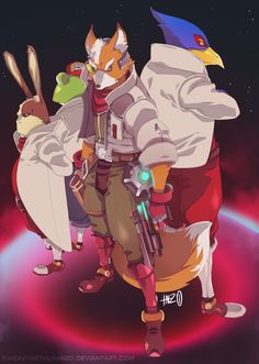 Team StarFox by HeavyMetalHanzo.deviantart.com on @deviantART