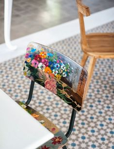 LOVE this restyled chair.