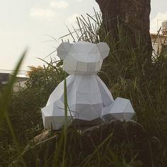 3D Papercraft DIY Templates Kit Teddy Bear by LowpolyPaper