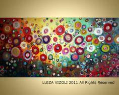 Original Abstract Tree Landscape Fantasy Circles by LUIZAVIZOLI