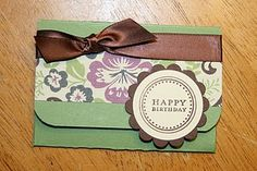 DIY Gift Card Holder: fun and fairly easy