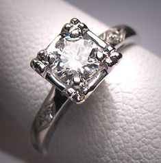 Antique Diamond Wedding Ring 1/2 Carat by AawsombleiJewelry, $2,450.00