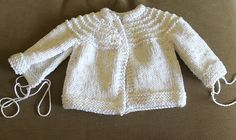 Another 5 Hour Baby Sweater - Knitting Pattern : 5 Hour Knit Baby Sweater Pattern Baby Sweater Patterns, Baby Cardigan Knitting Pattern, Knitted Baby Cardigan, Knit Baby Sweaters, Baby Knitting Patterns, Baby Knits, Knitted Bags, Knitted Baby Outfits, Toddler Sweater