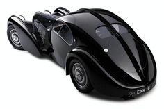"""Most Expensive Car Ever Sold - Bugatti Type 57S Atlantic:  """"Considered by some to be the most beautiful pre-war car, the Atlantic body Type 57S featured flowing coupe lines with a pronounced dorsal seam running front to back. Just four Atlantics were made. Only two of the cars survive. One is in the collection of Ralph Lauren, the second was owned by Dr. Peter Williamson. Williamson's car was sold for around $40,000,000 at an auction in May 2010."""""""