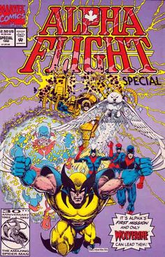 Alpha Flight Origin Special The Flight was a Canadian superhero team in the Marvel Comics universe. Their first (and, to date, only) appearance was in Alpha Flight Special vol. Rare Comic Books, Comic Books For Sale, Comic Book Covers, Comic Book Heroes, Comic Books Art, Comic Art, Book Art, Marvel Comics, Marvel Comic Universe