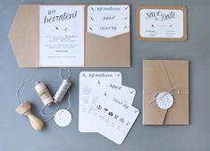 Einladungskarte Hochzeit Love Letter