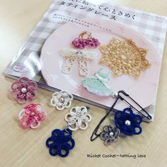 It is a work album of students of today's Hachioji classroom.  Works inside 'Tatting lace sweet heartedly'.  It is very cute and it is completed ~ 💕 how cute!  Well, if you moe Moe, the students will ask you!  !  !  !  I got you spoken to your words right away!  I am very happy. 使わ I will use it carefully!  Thank you very much ~ Today is the first technique of each, from the first ring of people, beads, those who are bridged for the first time, those who are mocked for the first time.  My…