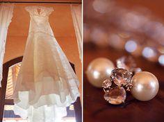 beautiful wedding & great earrings