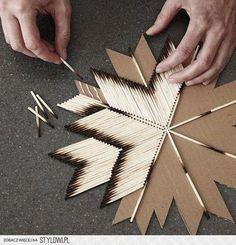 L'idée déco du samedi : fabriquer une étoile avec des allumettes
