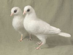 Needle felted White Dove life sized poseable bird by Ainigmati, $105.00