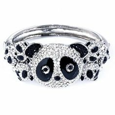 Butler & Wilson Crystal Multi Panda Heads Bangle