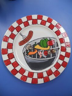 Items similar to Grill Master Platter on Etsy Dads Presents, Grill Plate, Grill Master, Pottery Ideas, Platter, Grilling, Bbq, Holidays, Unique Jewelry
