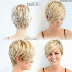 I totally couldn\'t pull this off but how cute is that hair ...