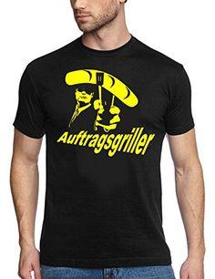 Coole-Fun-T-Shirts T-Shirt GRILL - AUFTRAGSGRILLER - BBQ GRILLSPORT, schwarz-weiß, XXXL, 10711_schwarz-weiss_GR.XXXL