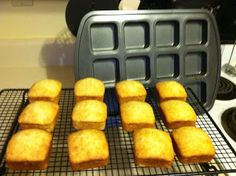 Mini Banana Bread using the Pampered Chef Brownie Pan           Preheat oven to 375 degrees Fahrenheit and move the rack to one above the c...