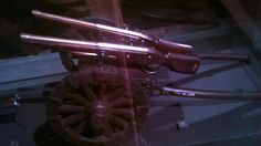 Model of field cannon with two rampart Matchlock Guns, Bohemia, 1650.