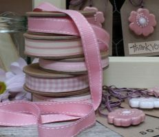 East of India pink ribbon with cream stitches Ribbons, Stitches, India, Cream, Pattern, Pink, Bebe, Creme Caramel, Bias Tape
