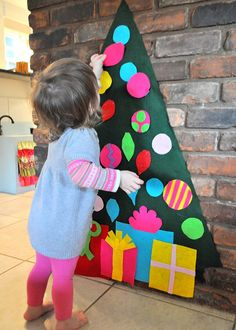 wall play felt christmas tree and ornaments Wall Christmas Tree Tips Prime 20 For 2012 dining and entertaining