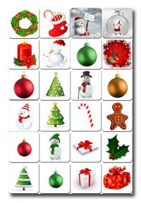 Follow the link for a printable memory game for Christmas