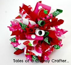 Tales of a Clumsy Crafter...: How to make a Funky Loop Korker Hair Bow...Itty Bitty Bow Boutique style!