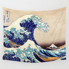 Katsushika Hokusai The Great Wave Off Kanagawa Wall Tapestry
