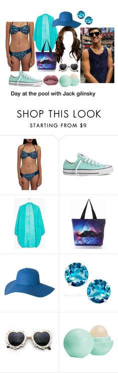 """Fun day at the pool with Jack G"" by xangelwolfx ❤ liked on Polyvore featuring Disney, Converse, MANGO, Eos and jackgilinsky"