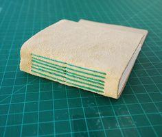 Boekbinden katern met lang steek