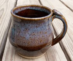 Ceramic Mug Yoga Om Tea Coffee Brown by ThrowingShop on Etsy