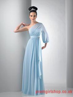 Asymmetrical blue long Bridesmaid Dresses PGBD00112