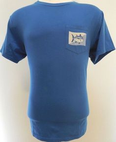 Southern Tide Shirt Blue L Large Mens Pocket Tee T Sz Size Cotton Game Fish Men* #SouthernTide #GraphicTee