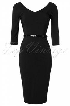 The Pretty Dress Company - Burbank Black Pencil Dress