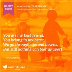 Poems About Family And Friendship 1