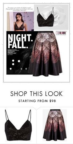 """It was dream"" by janehappy ❤ liked on Polyvore featuring Fleur du Mal, Ted Baker and Clinique"