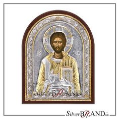 Silver Saints icons and themes in a variety of designs and sizes. All are replicas of Byzantine icons, silver with local gold plating with gold and specially treated to remain unaltered the brilliance of metal. Christ Pantocrator, The Birth Of Christ, Byzantine Icons, Last Supper, Russian Art, Virgin Mary, Saints, Greek, Statue