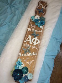 Stained wood classic sorority paddle for big and little!