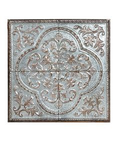 Look at this Metal Tin Embossed Wall Décor on #zulily today!