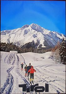 vintage ski poster Tirol