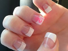 Pink browning symbol on French tip