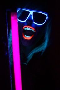 glow in the dark parties - Google Search