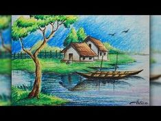 scenery drawing pastel color landscape drawing with oil pastels - oil pastel painting Scenery Paintings, Oil Pastel Paintings, Oil Pastel Drawings, Oil Pastel Art, Colorful Drawings, Landscape Drawings, Cool Landscapes, Landscape Art, Landscape Paintings
