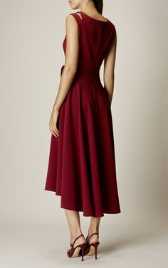 Karen Millen, CREPE MIDI DRESS Burgundy Robe Mi Longue Habillée, Robe Midi  Bordeaux, 084a6a17b5e4