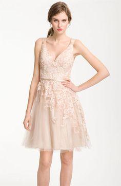 short blush bridesmaid dress