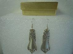 Oneida Valley Rose 1956 Earrings Silverplate  #Oneida #DropDangle